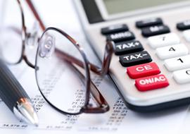 Vergi-Pratik-Bilgiler Tax calculator pen and glasses